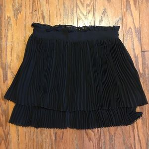 Free People  Pleated Mini  Skirt
